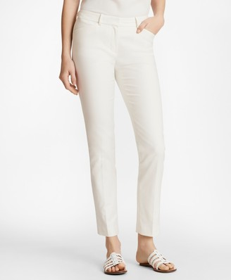 Brooks Brothers Stretch Cotton Dobby Slim-Fit Pants