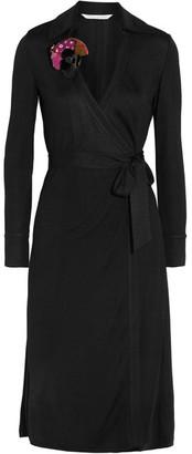 Diane von Furstenberg - Cybil Jersey Wrap Dress - Black $500 thestylecure.com