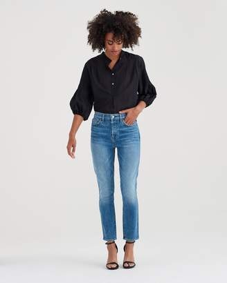 7 For All Mankind Edie with Grinded Hem in Desert Oasis