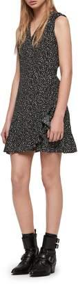 AllSaints Krystal Splash Fit & Flare Dress
