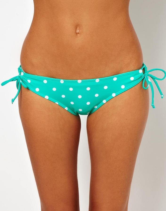 Asos Mix and Match Spot Loopside Bikini Pant