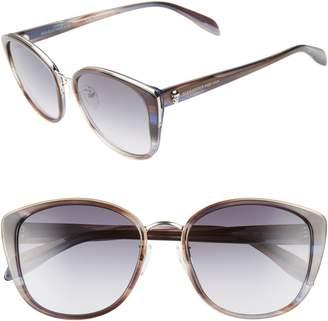 Alexander McQueen 56mm Gradient Round Sunglasses