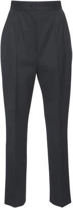 Dolce & Gabbana Cropped Wool-Blend Crepe Slim-Leg Pants