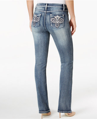 Earl Jeans Embellished Medium Wash Bootcut Jeans $54 thestylecure.com