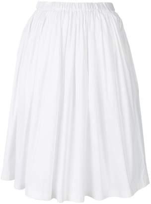 Prada flared pleated skirt