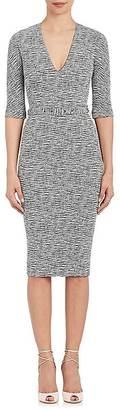 Victoria Beckham Women's Cotton-Blend Belted Sheath Dress