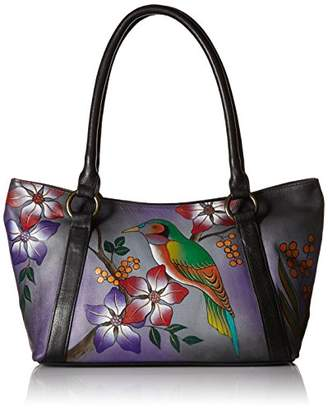 Anuschka Anna by Genuine Leather Tote Shoulder Bag | Hand-Painted Original Artwork |
