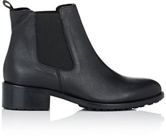 Barneys New York Women's Shearling-Lined Chelsea Boots-BLACK $425 thestylecure.com