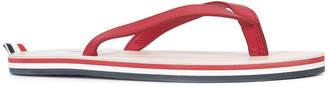 Thom Browne Striped tab flip flops