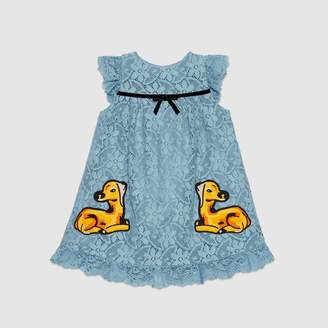 Gucci Baby lace dress with patches