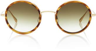 Garrett Leight Playa 48 Tortoiseshell Acetate Round-Frame Sunglasses