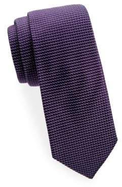 Saks Fifth Avenue Diagonal Neat Silk Tie