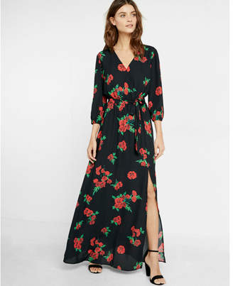 Express floral surplice maxi dress $88 thestylecure.com