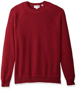 Lacoste Men's Long Sleeve Fancy Stitch Garment Dyed Sweater