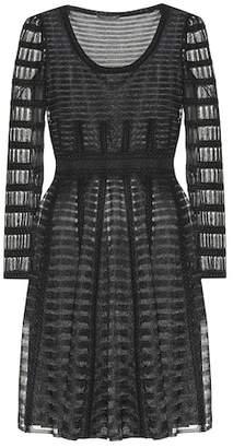 Alexander McQueen Sheer knitted minidress