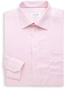 Eton Classic Fit Herringbone Dress Shirt