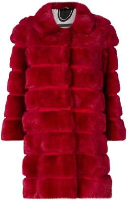Simonetta Ravizza bevelled fur coat