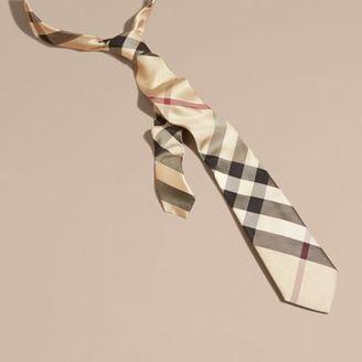 Burberry Modern Cut Check Silk Tie $190 thestylecure.com