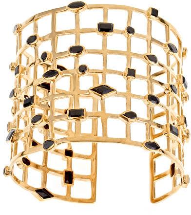 Melinda Maria Black Cubic Zirconia Cage Cuff