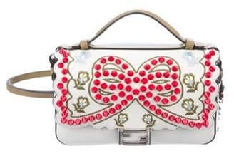 Fendi Micro Double Baguette Studded Bow Bag White Micro Double Baguette Studded Bow Bag