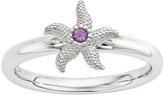 Simply Stacks Sterling Gemstone Starfish Ring
