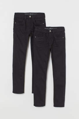 H&M 2-pack Trousers Skinny Fit