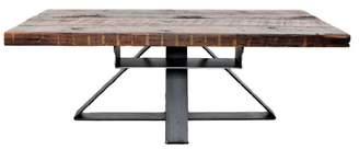 Vault Furniture Industrial Modern Reclaimed Coffee Table With Hidden Shelf