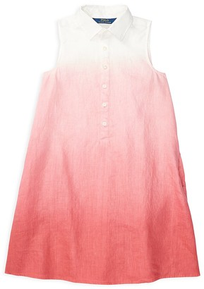 Ralph Lauren Childrenswear Girls' Dip Dye Dress - Big Kid $55 thestylecure.com