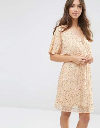 ASOS Sequin Kimono Mini Dress $111 thestylecure.com