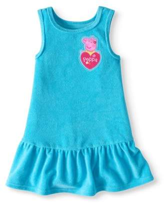 Peppa Pig Toddler Girl Terry Dress Swim Cover-up
