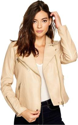 Blank NYC [BLANKNYC Women's Natural Vegan Leather Moto Jacket in Outerwear