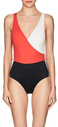 Solid & Striped Women's Ballerina Colorblocked One-Piece Swimsuit