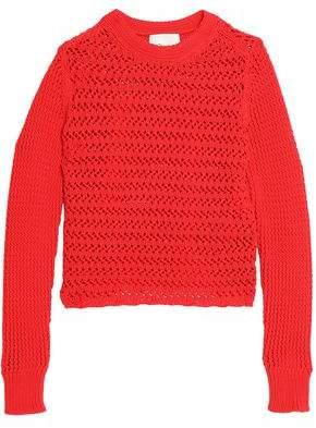 3.1 Phillip Lim Crochet-Knit Cotton-Blend Sweater