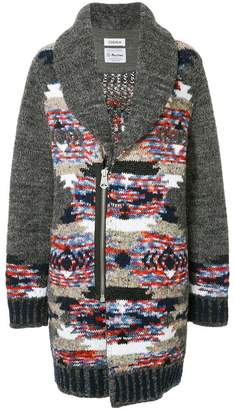 Coohem Native contrast cardi-coat