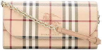 Burberry Haymarket Check chain wallet