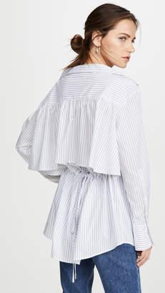 ADEAM Ruched Parachute Shirt