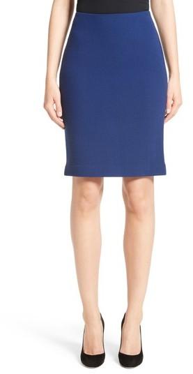 Women's Armani Collezioni Double Crepe Pencil Skirt