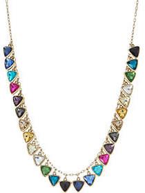 LOGO by Lori Goldstein LOGO Links Triangle Stone Necklace