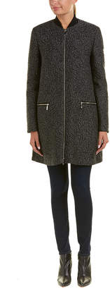 Moncler Millepertuis Wool & Silk-Blend Coat