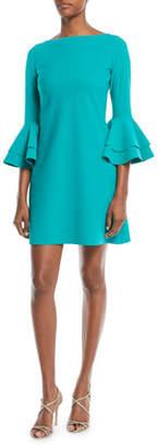Chiara Boni Natalia Double Bell-Sleeve Mini Dress