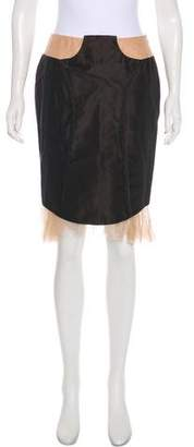 Stella McCartney Lace-Accented Knee-Length Skirt