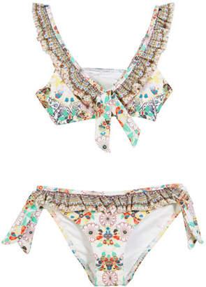 a976a7fe3f ... Camilla Floral Frill Ruffle-Trim Two-Piece Bikini, Size 4-10
