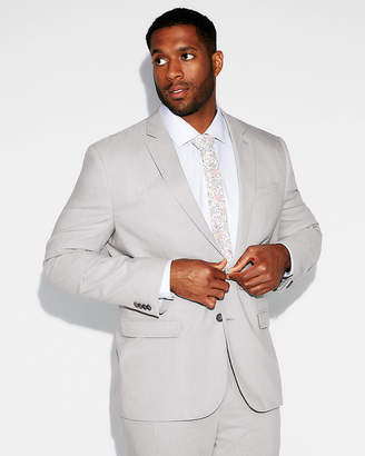 Express Slim Stripe Cotton-Blend Stretch Suit Jacket