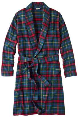 L.L. Bean L.L.Bean Men's Scotch Plaid Flannel Robe