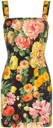 Dolce & Gabbana Cady floral print sleeveless mini dress