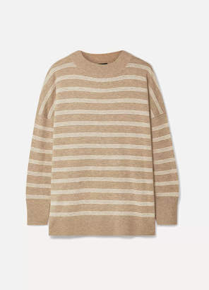 Hatch The Clementine Oversized Striped Merino Wool Sweater - Camel