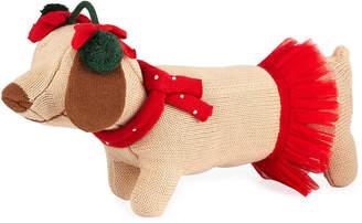 "Zubels Knit Dog Doll, 14"""