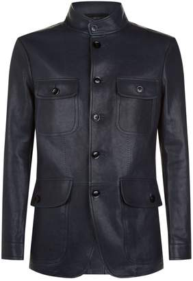 Tom Ford Military Leather Jacket