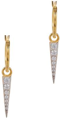 Missoma Mini Dagger 18ct Gold-plated Earrings