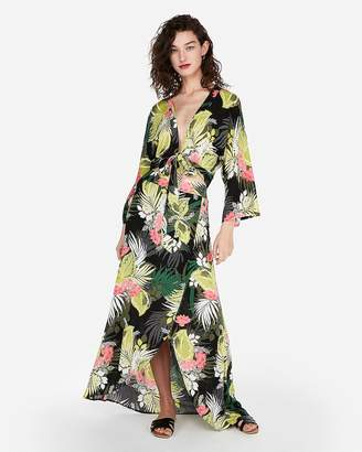 Express High Waisted Tropical Print Maxi Skirt
